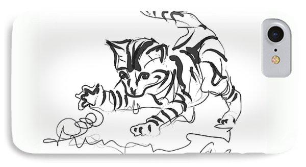 Cat- Cute Kitty  IPhone Case by Go Van Kampen