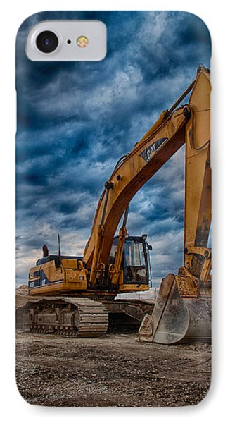 Cat Excavator IPhone Case by Mike Burgquist