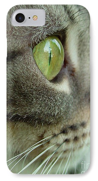 Cat Face Profile IPhone Case by Amy Cicconi