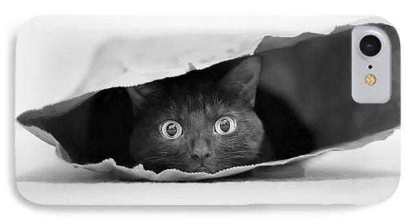 Cat In A Bag IPhone Case