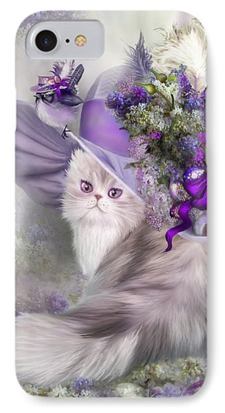 Cat In Easter Lilac Hat IPhone Case by Carol Cavalaris