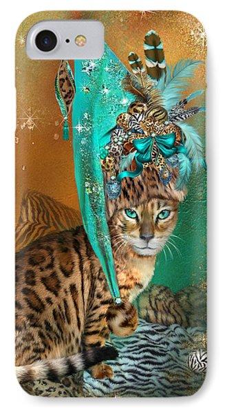 Cat In Leopard Trim Hat IPhone Case