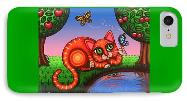 Cat In Reflection Phone Case by Victoria De Almeida