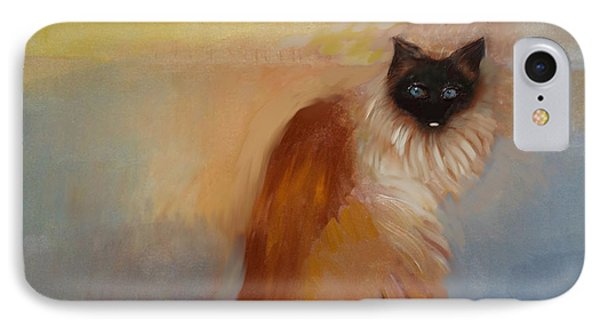 Cat In Surreal Landscape IPhone Case