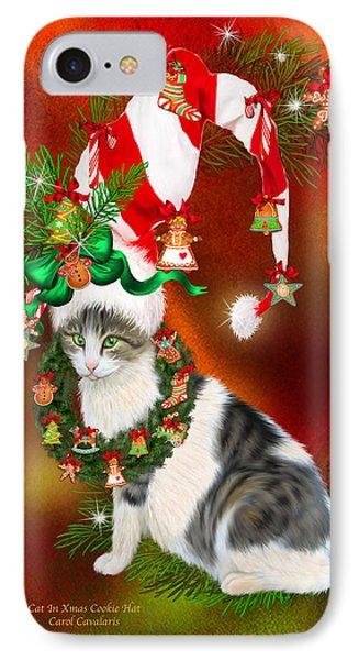Cat In Xmas Cookie Hat IPhone Case