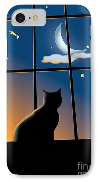 Cat On The Window Phone Case by Aleksey Tugolukov