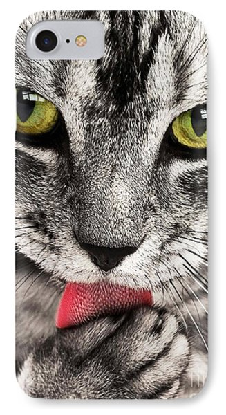IPhone Case featuring the photograph Cat by Paul Fearn