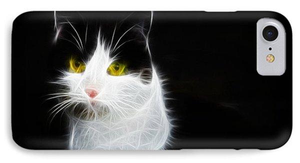 Cat Portrait Fractal Artwork Phone Case by Matthias Hauser