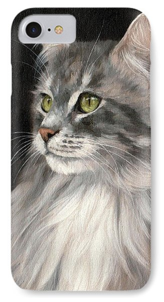 Cat Portrait Painting IPhone Case
