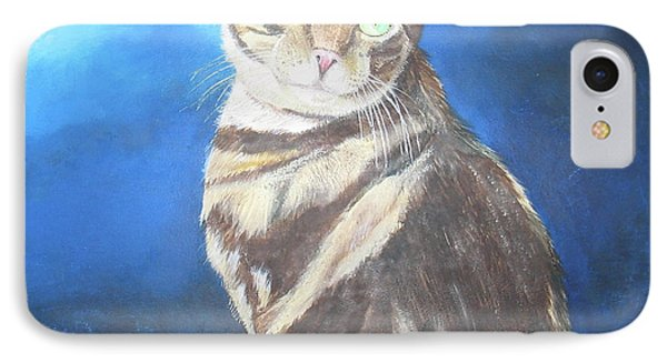 Cat Profile IPhone Case by Thomas J Herring