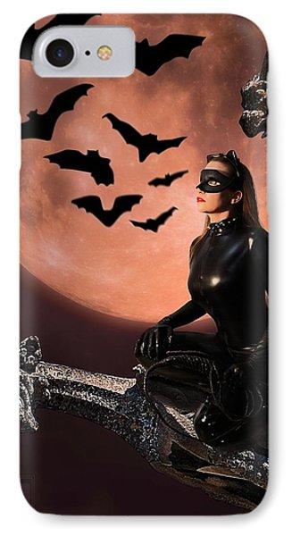 Cat Vs Bat IPhone Case