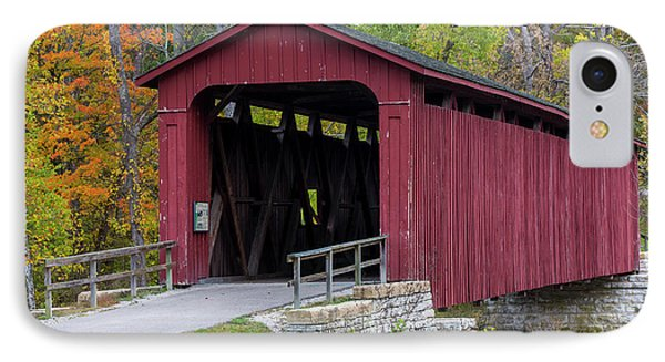Cataract Covered Bridge Over Mill Creek IPhone Case by Chuck Haney