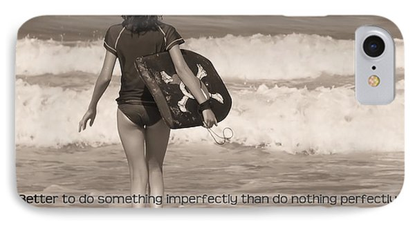 Catch A Wave Quote Phone Case by JAMART Photography