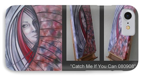 IPhone Case featuring the painting Catch Me If You Can 080908 by Selena Boron