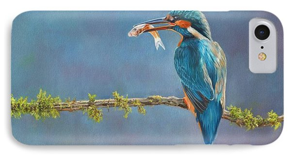 Kingfisher iPhone 7 Case - Catch Of The Day by David Stribbling
