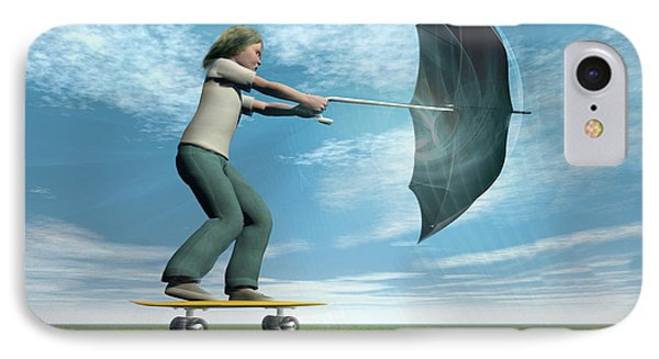 Catch The Wind IPhone Case by Carol & Mike Werner
