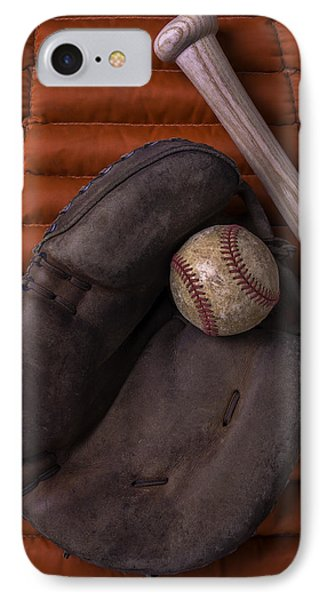 Catchers Mitt And Baseball IPhone Case by Garry Gay