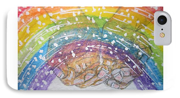 Catching A Rainbbow Phone Case by Kathy Marrs Chandler