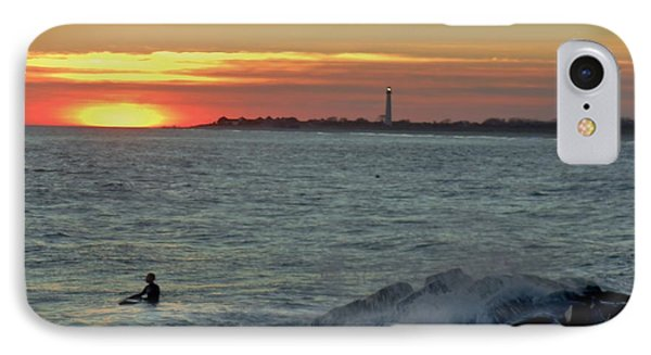 IPhone Case featuring the photograph Catching A Wave At Sunset by Ed Sweeney