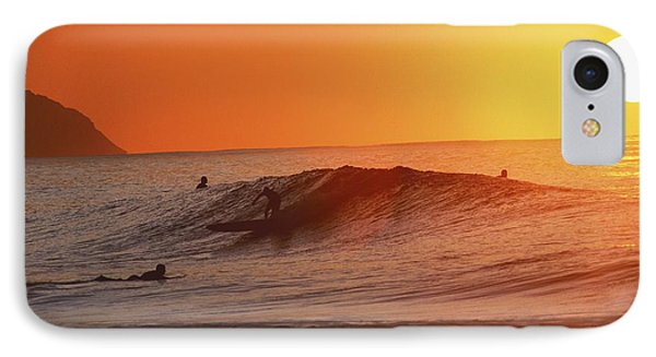 Catching A Wave At Sunset Phone Case by Vince Cavataio - Printscapes