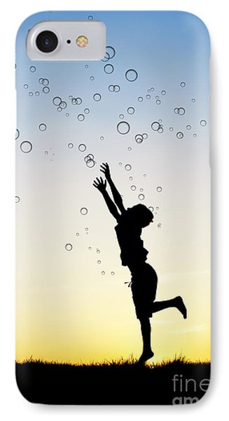 Catching Bubbles IPhone Case by Tim Gainey