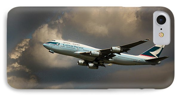 Cathay Pacific B-747 IPhone Case by Rene Triay Photography