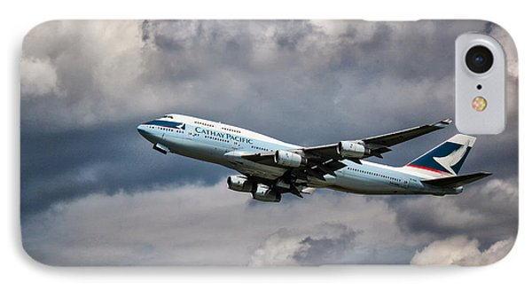 Cathay Pacific Boeing 747-400 IPhone Case by Rene Triay Photography