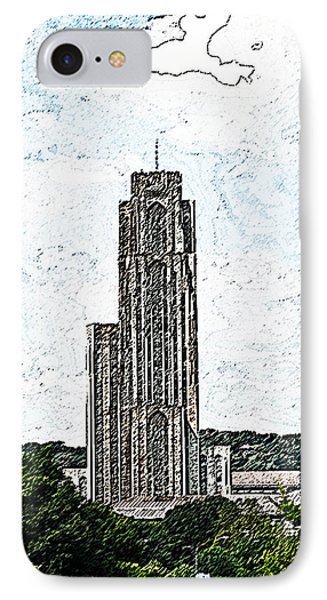 Cathederal Of Learning Artistic Brush IPhone Case by G L Sarti