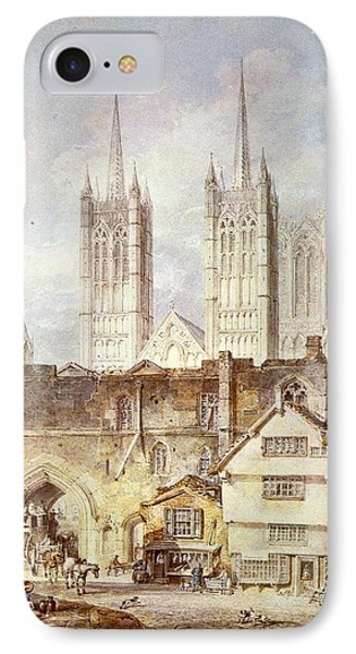 Cathedral Church At Lincoln 1795 IPhone Case by J M W Turner