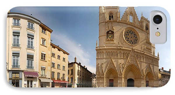 Cathedral In A City, St. Jean IPhone Case by Panoramic Images