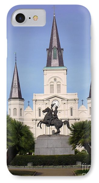 IPhone Case featuring the photograph Cathedral In Jackson Square by Alys Caviness-Gober