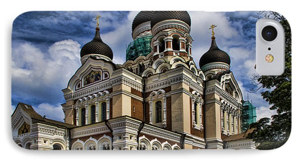 Cathedral In Tallinn Phone Case by David Smith
