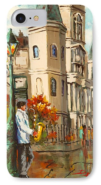 IPhone Case featuring the painting Cathedral Jazz by Dianne Parks