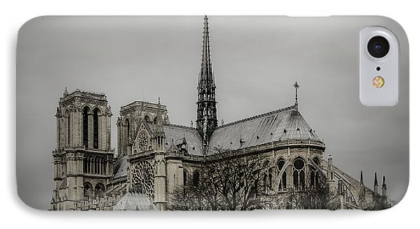 Cathedral Of Notre Dame De Paris Phone Case by Marco Oliveira