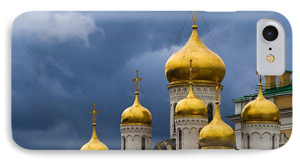 Cathedral Of The Annunciation Of Moscow Kremlin - Square Phone Case by Alexander Senin
