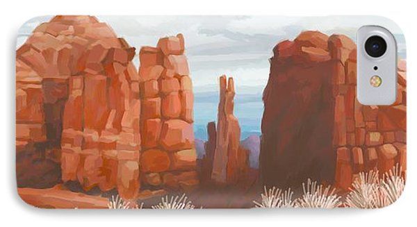 Cathedral Rock In Winter IPhone Case