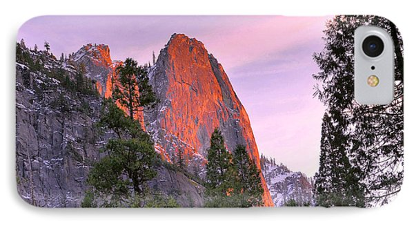Sentinel Rock Alpenglow IPhone Case by Stephen  Vecchiotti