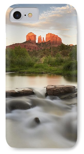Cathedral Rock At Red Rock IPhone Case by Peter Carroll