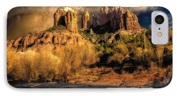 Cathedral Rock Before The Rains Came Phone Case by Jon Burch Photography