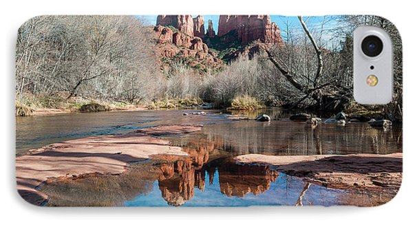 Cathedral Rock Reflection  Sedona IPhone Case by Deb Garside