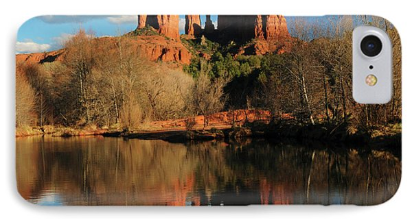 Cathedral Rock Reflections At Sunset IPhone Case