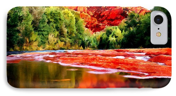 Cathedral Rock Sedona Arizona IPhone Case by Bob and Nadine Johnston