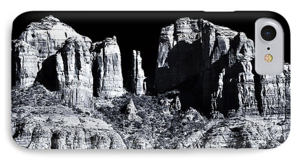 Cathedral Rock Shadows Phone Case by John Rizzuto