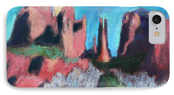 Cathedral Rock With Gray Trees IPhone Case by Linda Novick