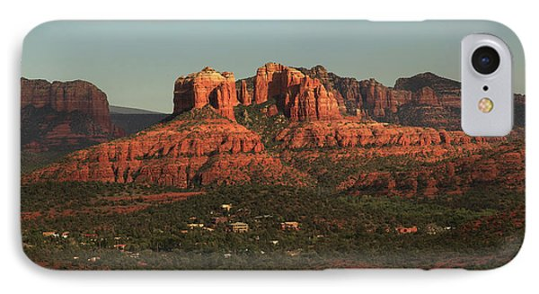 IPhone Case featuring the photograph Cathedral Rocks In Sedona by Alan Vance Ley