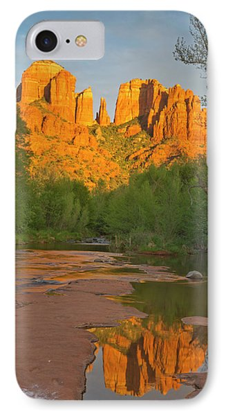 Cathedral Rocks Reflect Into Oak Creek IPhone Case