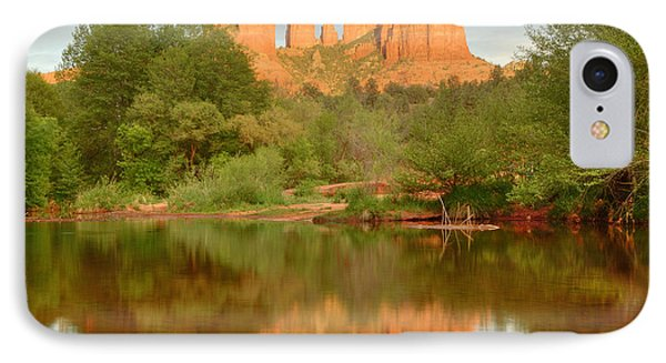 IPhone Case featuring the photograph Cathedral Rocks Reflection by Alan Vance Ley