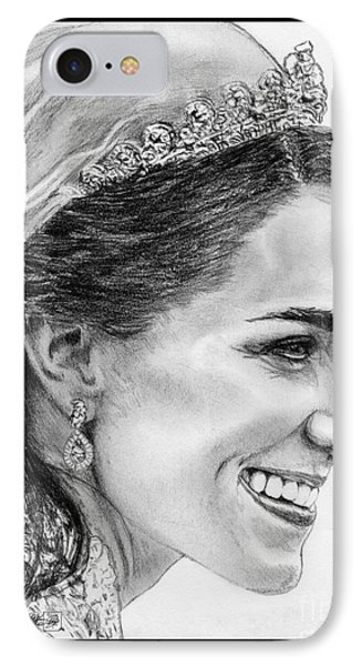 Catherine - Duchess Of Cambridge In 2011 IPhone Case by J McCombie