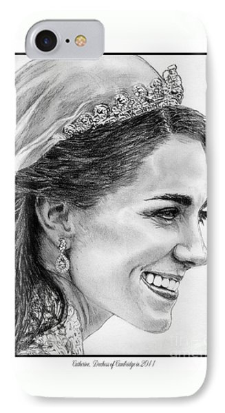 Catherine - Duchess Of Cambridge In 2011 Phone Case by J McCombie