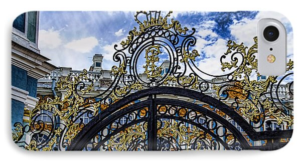 Catherine Palace Entry Gate - St Petersburg Russia IPhone Case by Jon Berghoff